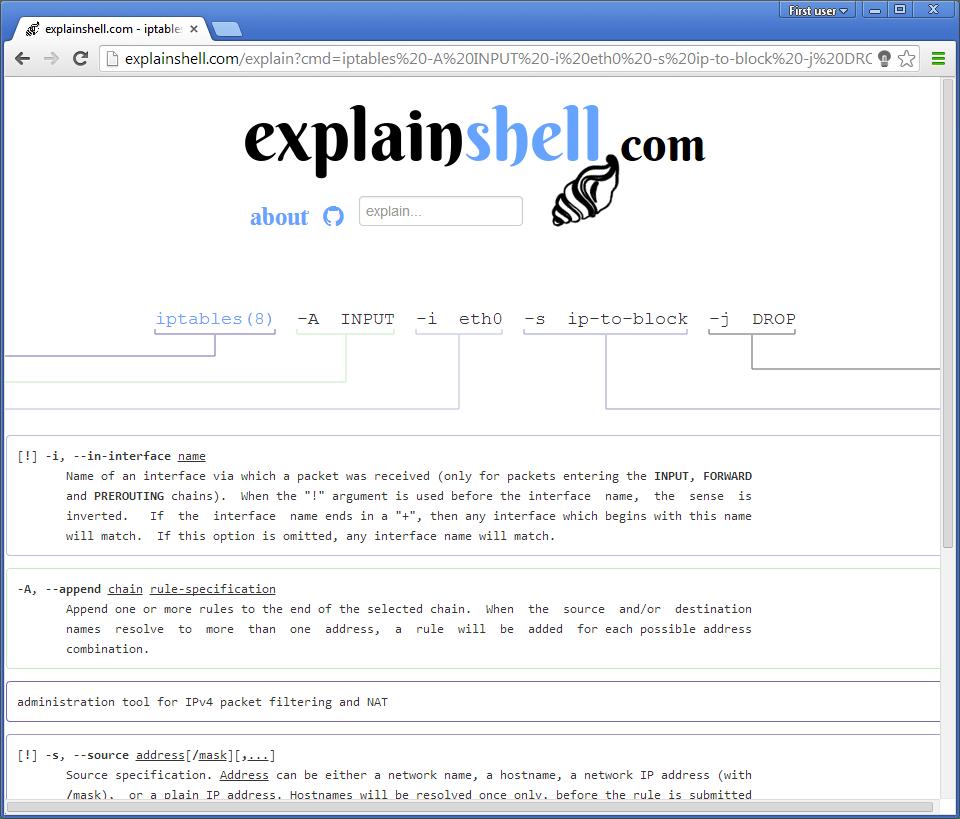 explain-shell