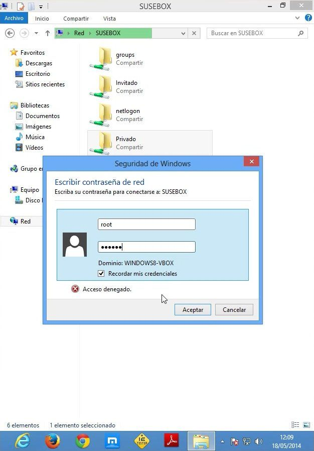 Accediendo Samba desde Windows