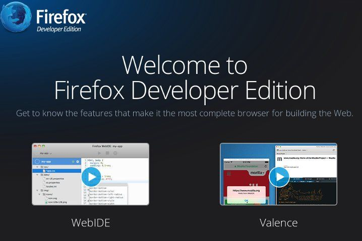 Portada de Firefox Developer Edition