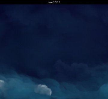 GNOME Shell por defecto en Fedora 21 Workstation
