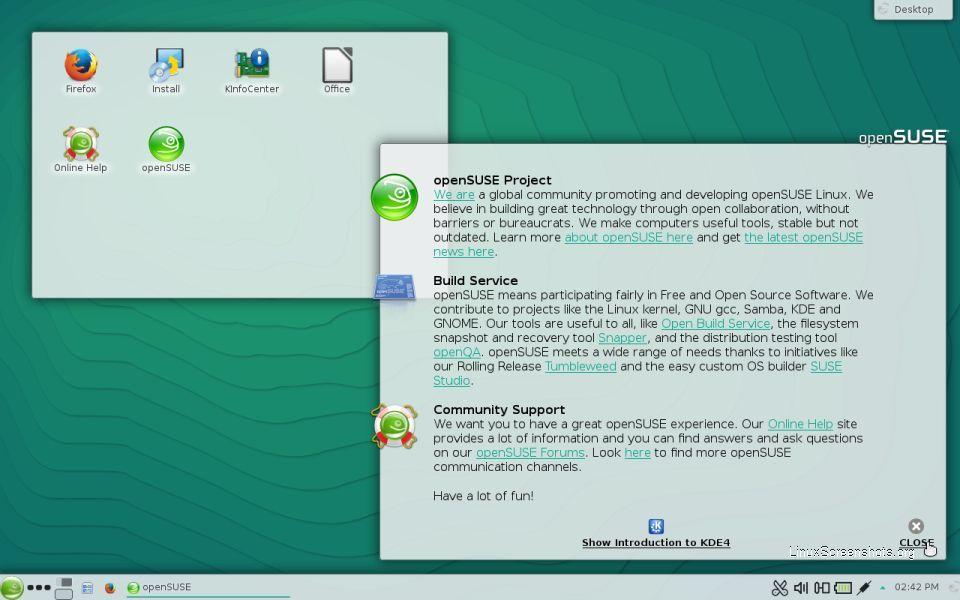 openSUSE con KDE