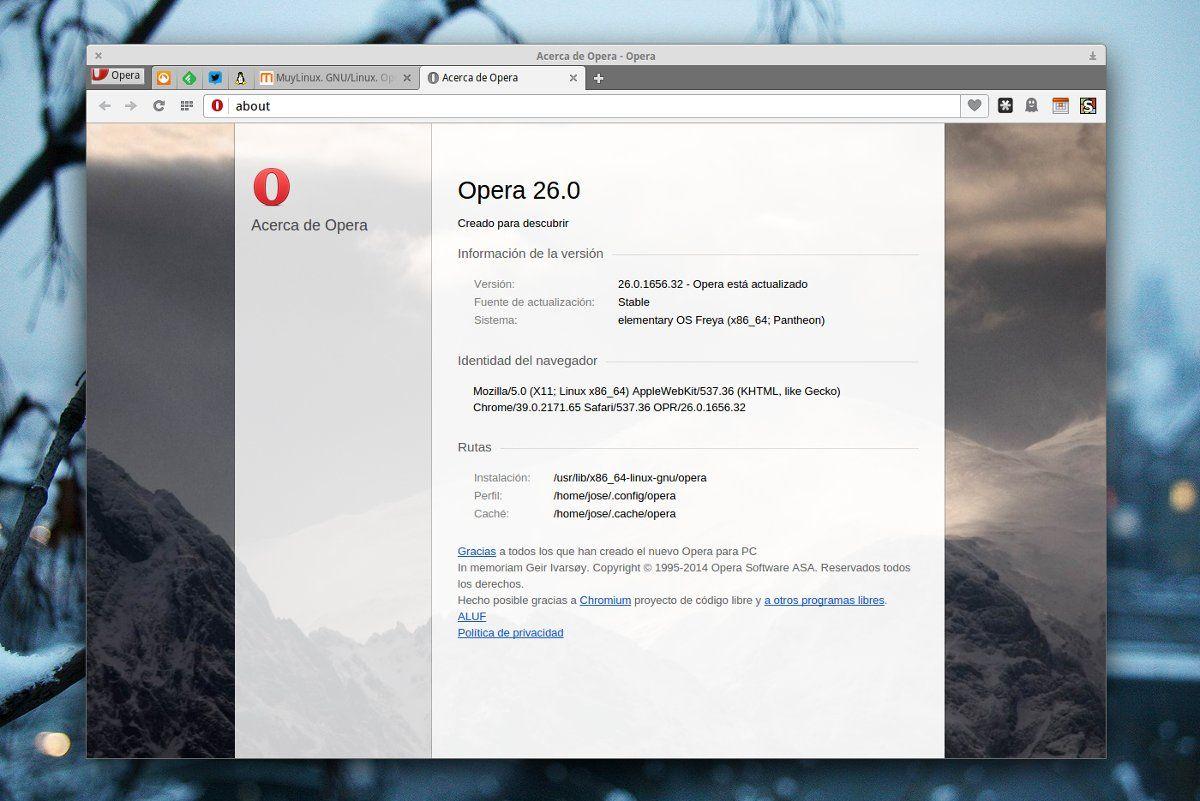 Ahora sí, Opera 26 para Linux