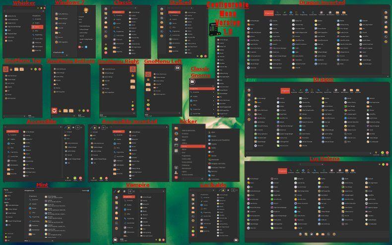 configurable menu