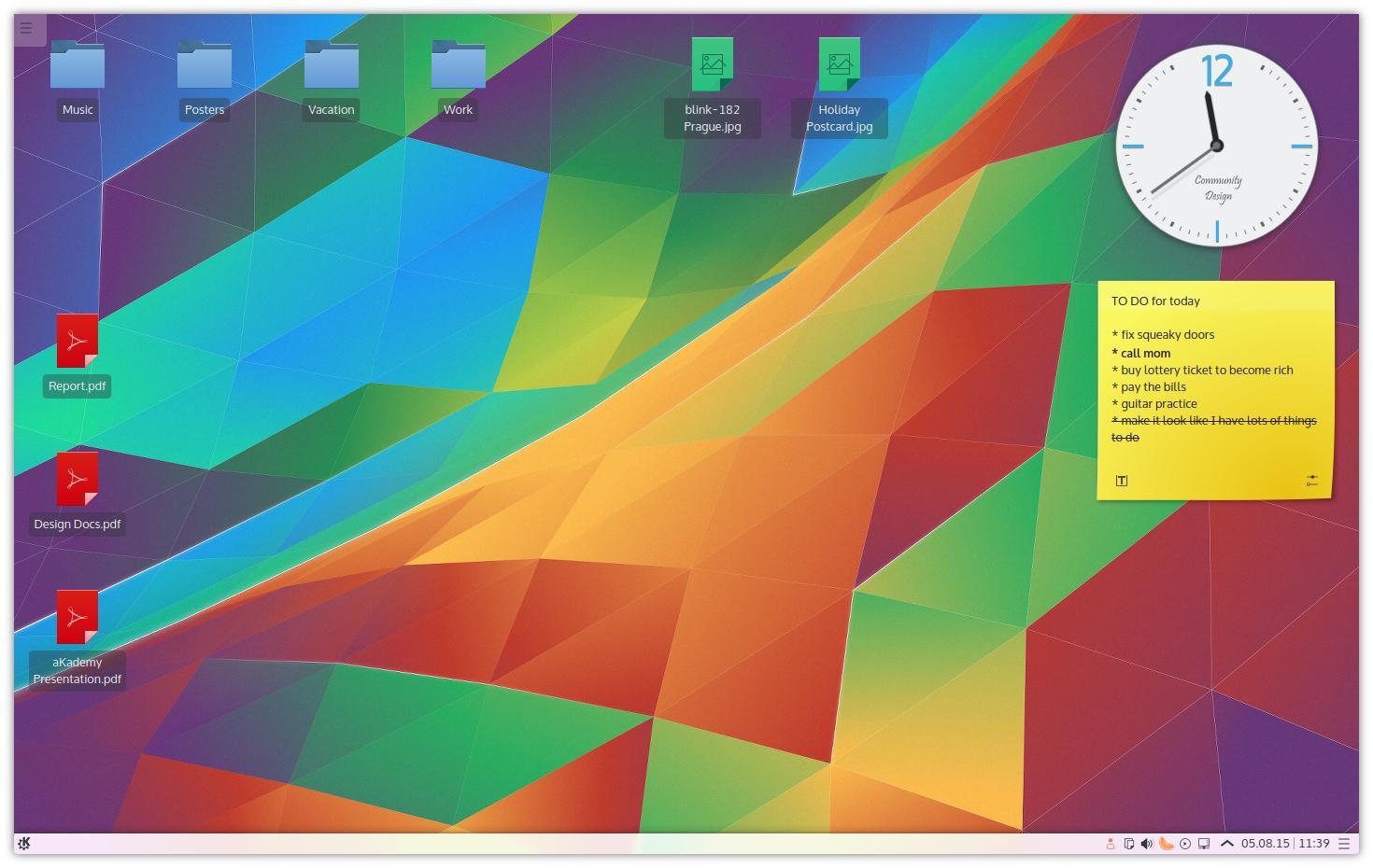 Plasma 5.4 desktop