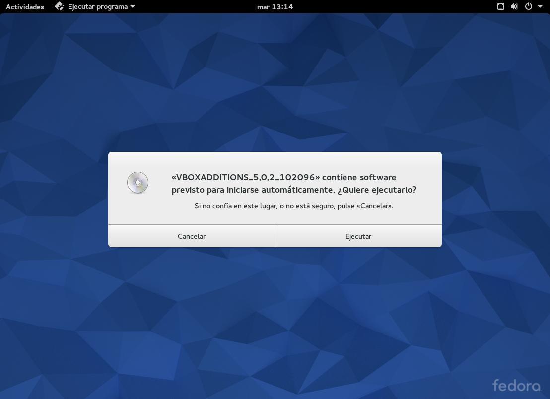 Instalar Guest Additions de VirtualBox en Fedora 22