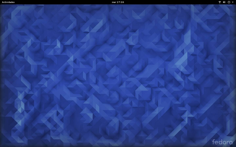 Aspecto por defecto de Fedora 23 - GNOME Shell - GNOME 3.18