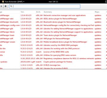Imagen de Yum Extender DNF sobre Fedora 23