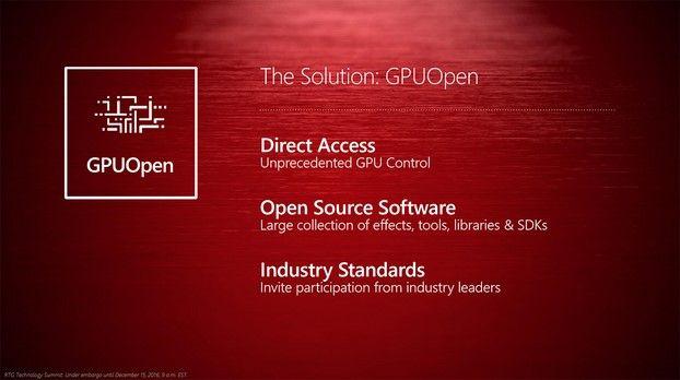 GPUOpen, sus objetivos para los desarrolladores