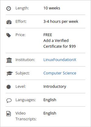 Ficha del curso de Cloud Computing de edX y The Linux Foundation