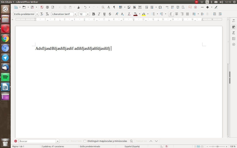 Donde esta el corrector ortografico de LibreOffice en Ubuntu 16.04 LTS