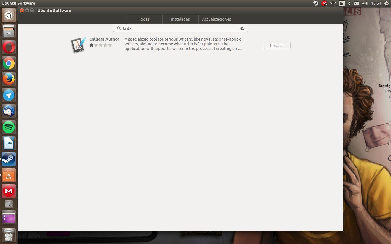 GNOME Software en Ubuntu 16.04 LTS es incompetente a la hora de encontrar aplicaciones
