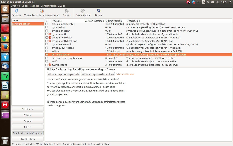 Instalar Ubuntu Software Center en Ubuntu 16.04 LTS