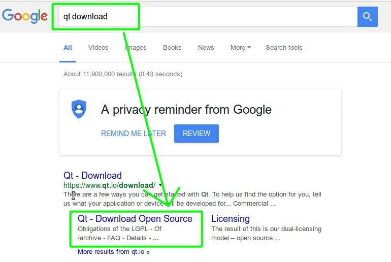 01 Descargar Qt desde Google
