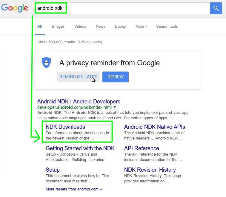 10 Descargar Android NDK desde Google
