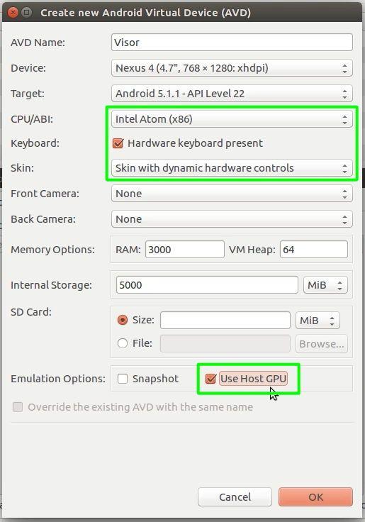 19 Crear un AVD de Android, segundo paso