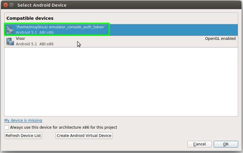 21 Ejecutando un programa creado con Qt Creator sobre un AVD de Android en ejecucion