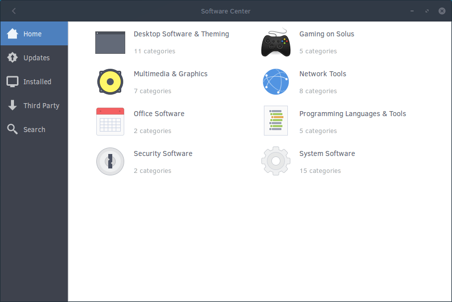 Software Center Solus 1.2