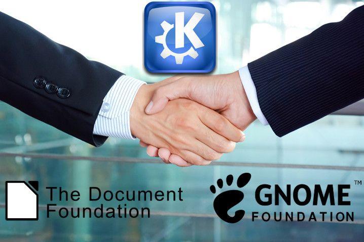 The Document Foundation estrecha lazos con KDE y GNOME