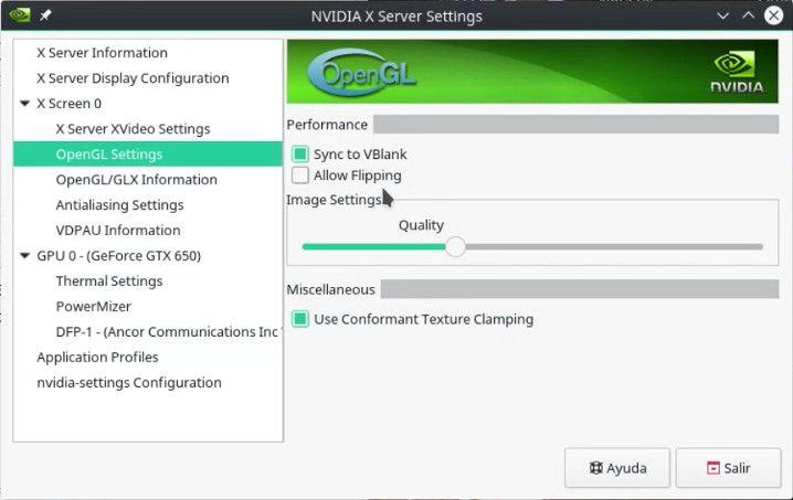 Configurando el driver de NVIDIA para realizar un screencast a un videojuegos sobre GNU/Linux