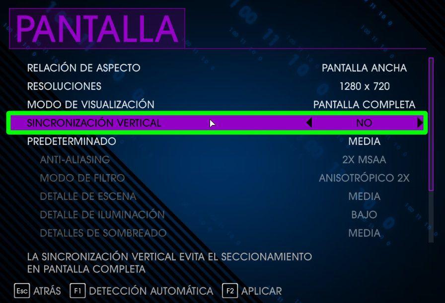 Desactivar la sincronizacion vertical de los juegos cuando se quiera hacer un screencast sobre estos con GNU/Linux y el driver oficial de NVIDIA