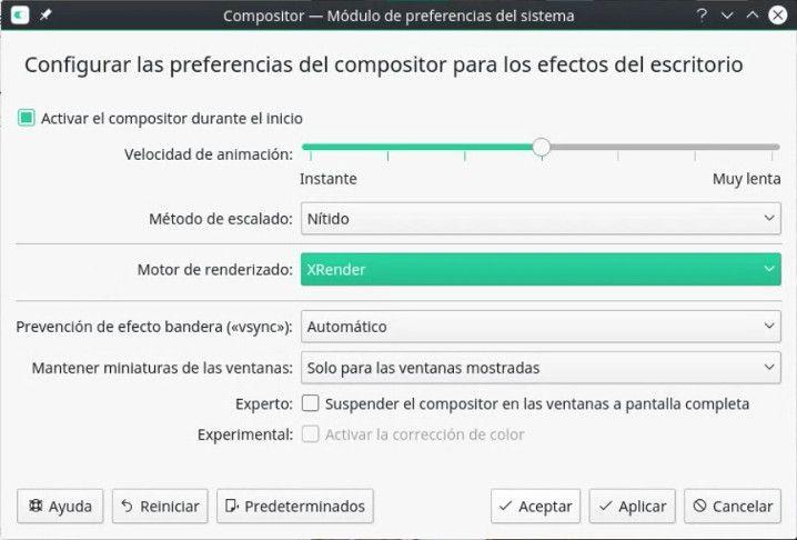 Preparar el Compositor de KDE-Plasma 5 para realizar un screencast a un videojuego con el driver oficial de NVIDIA
