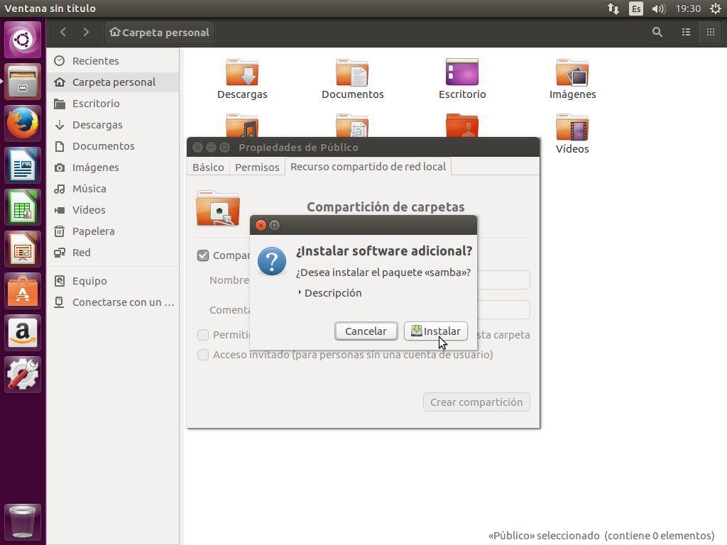 Instalando Samba en Ubuntu 16.04