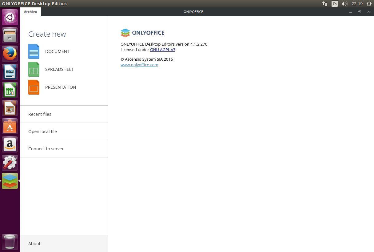 Licencia de ONLYOFFICE Desktop Editors