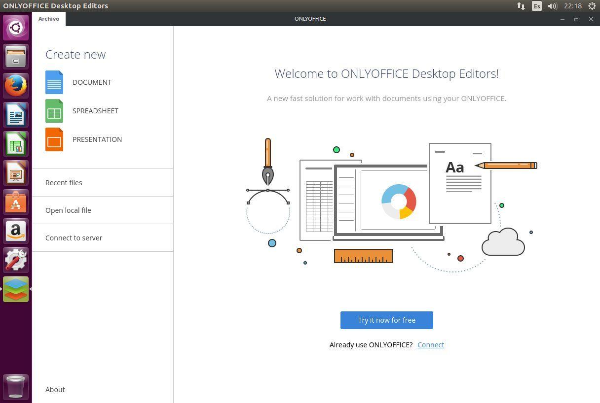 Primera apertura de ONLYOFFICE Desktop Editors