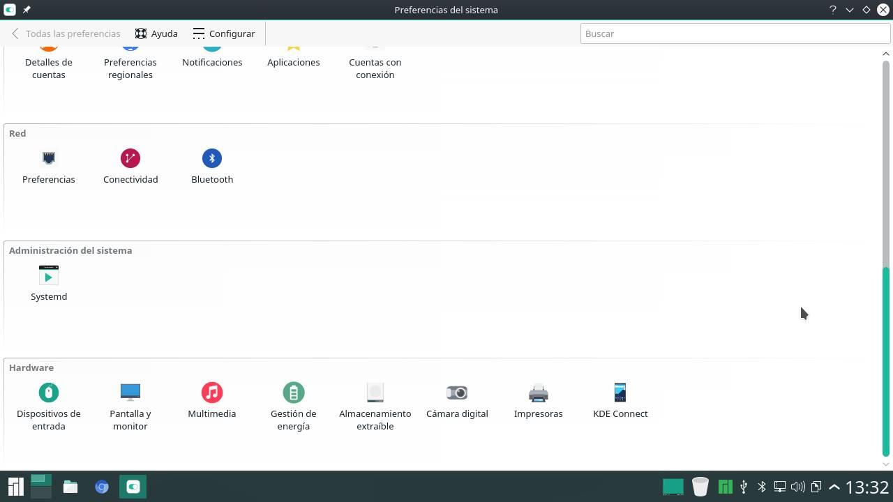 KDE Connect en las Preferencias del sistema en KDE Plasma 5