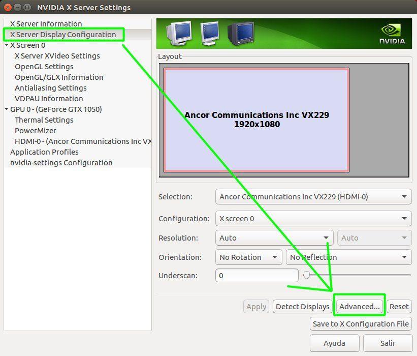 Primer paso para habilitar el Full Composite Pipeline en NVIDIA Linux