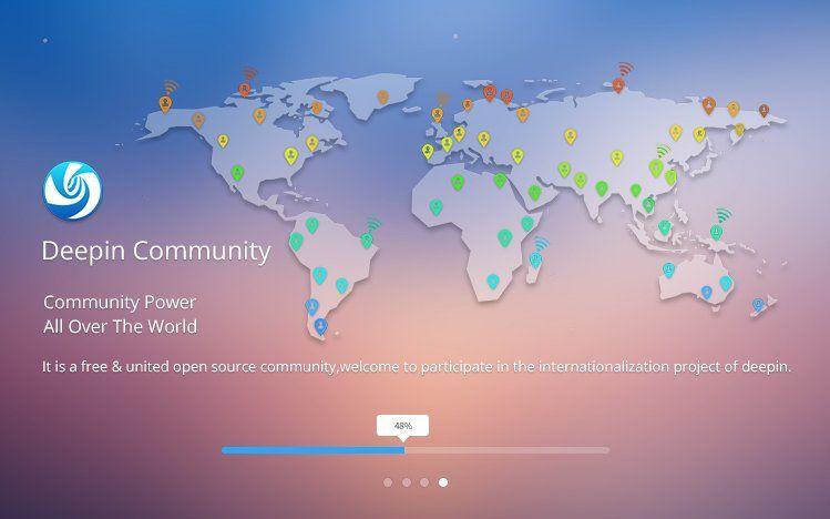 Instalador a pantalla completa de Deepin 15.4