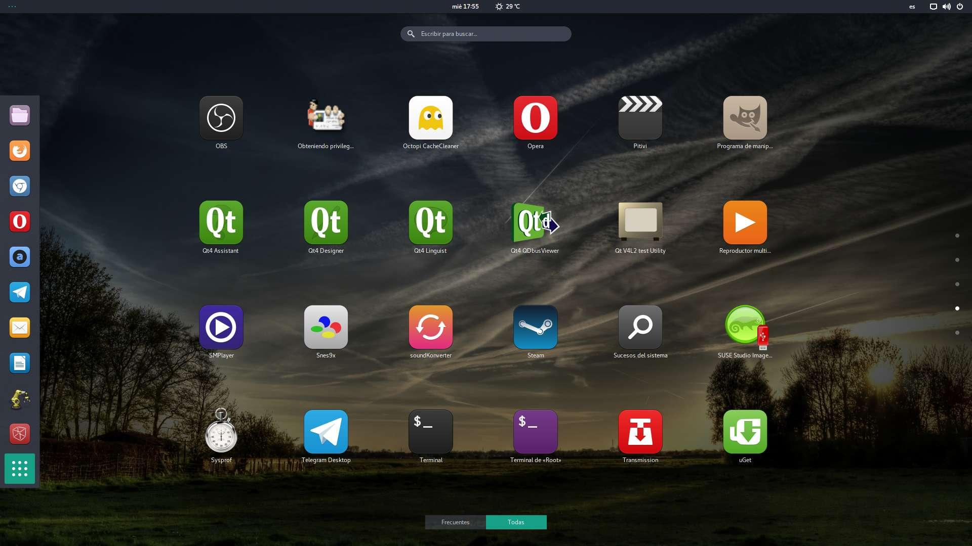 Lanzador de aplicaciones de GNOME Shell