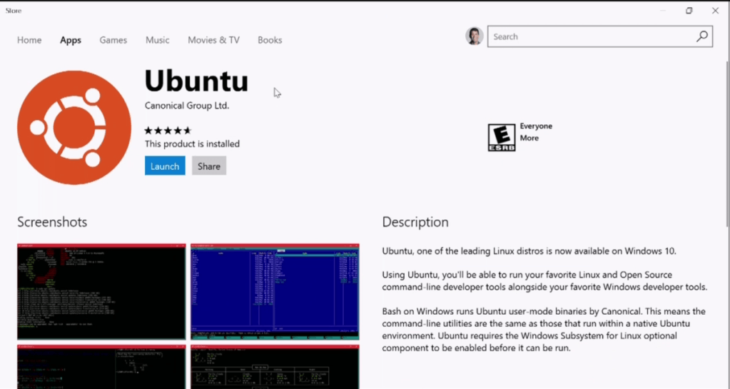 Ubuntu disponible desde la Windows Store
