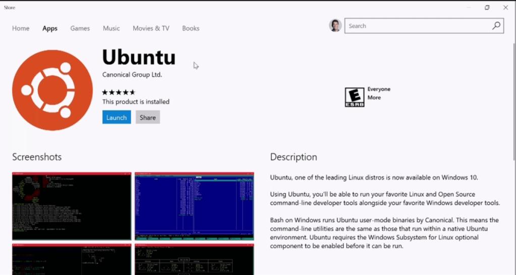 Ubuntu disponible desde la Windows Store