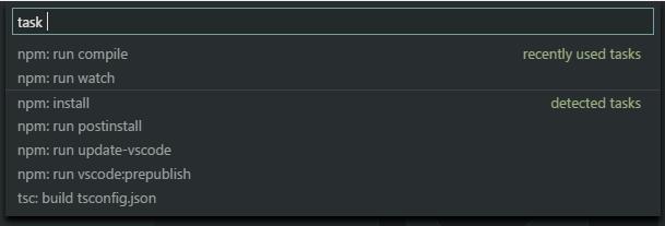 Detección automática de tarea en Visual Studio Code 1.14
