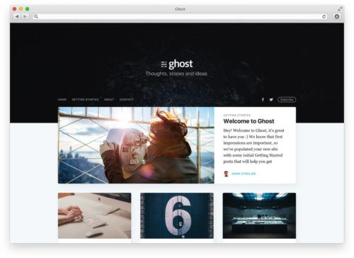 Tema Casper de Ghost 1.0
