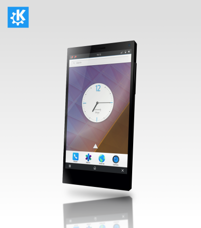 Imagen renderizada de Plasma Mobile sobre Librem 5