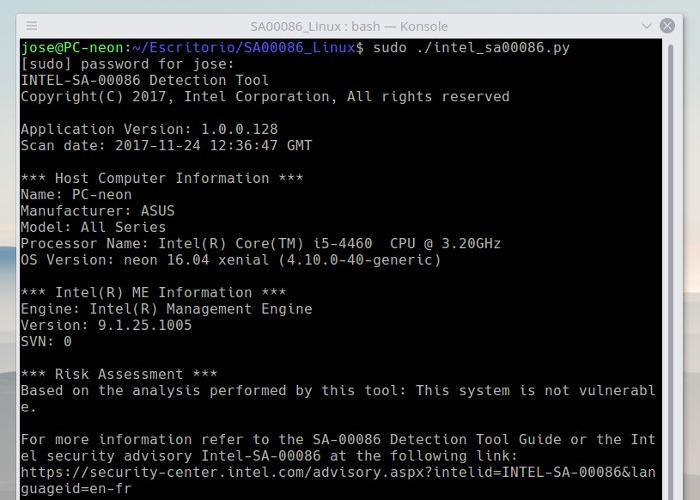 Herramienta de Intel para saber si una CPU es vulnerable