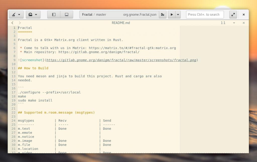 CSD aplicado a GNOME Builder