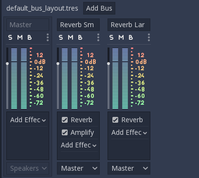 Rack de audio de Godot 3.0