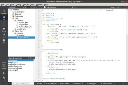 JavaScript en Qt QML