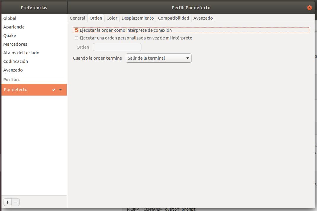 Eliminar fallo de Tilix en Ubuntu 18.04