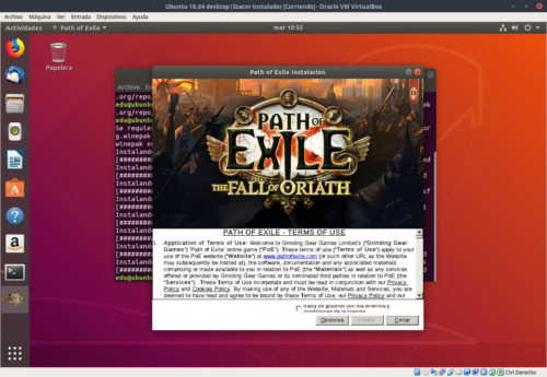 Iniciando Path of Exile instaldo con Winepack