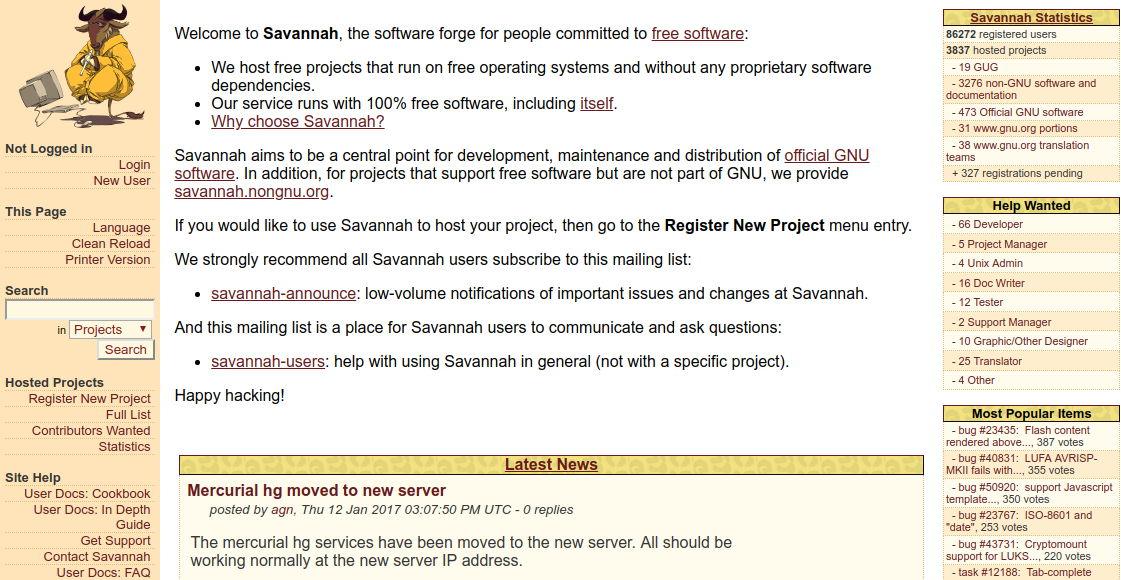 GNU Savannah