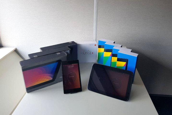 Nexus 7, Nexus 10 y Meizu MX4 donados a UBPorts