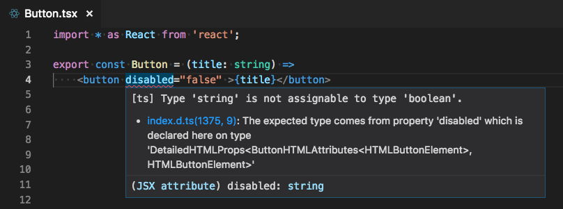 Mensaje de error en Visual Studio Code 1.26