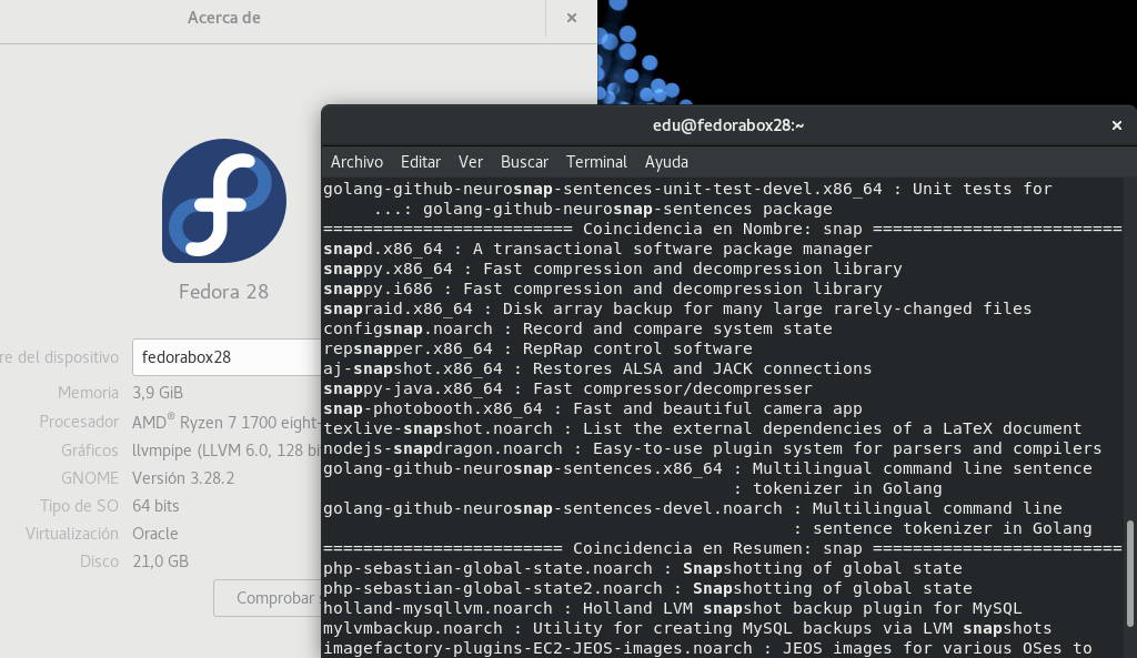 Snap de Canonical/Ubuntu en los repositorios oficiales de Fedora