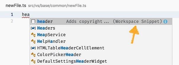 Fragmento de código a nivel del proyecto en Visual Studio Code 1.28