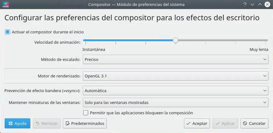 Configuración de Kwin (compositor de KDE Plasma 5) para su uso en videojuegos