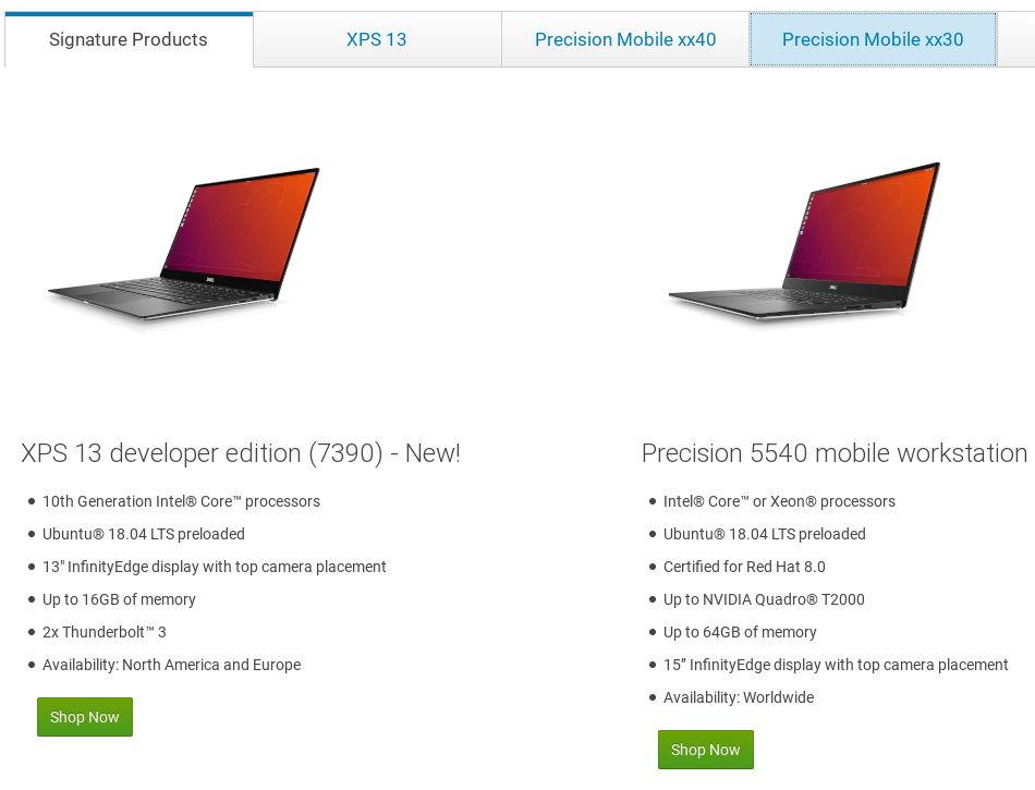 dell.com/linux, la nueva página web de Dell que reúne todos sus productos con Linux preinstalado